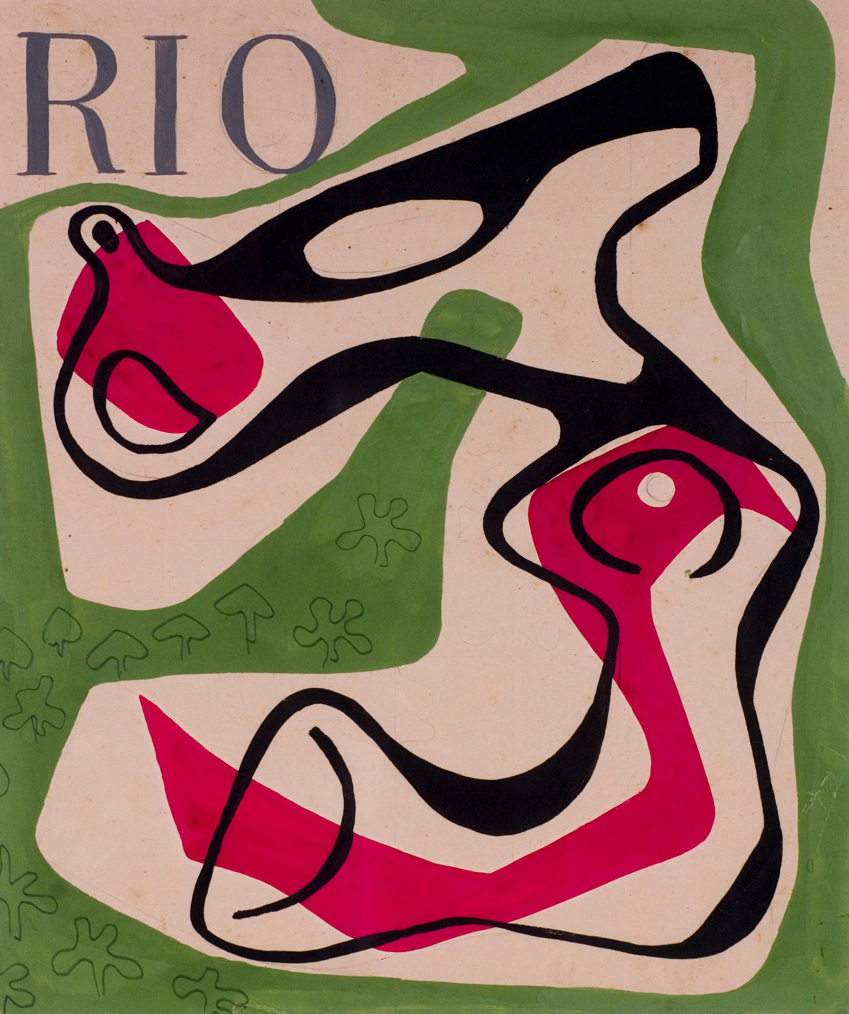 roberto burle marx cover design for the magazine rio gouache on paper x cm courtesy of stio roberto burle marx rio de janeiro